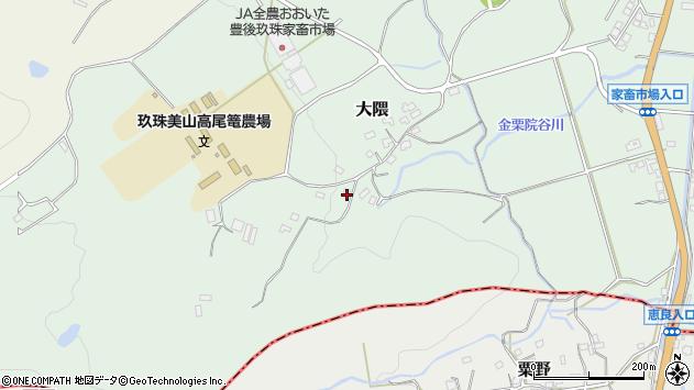 大分県玖珠郡玖珠町大隈1629周辺の地図
