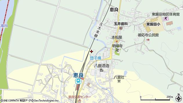 大分県玖珠郡九重町恵良8周辺の地図