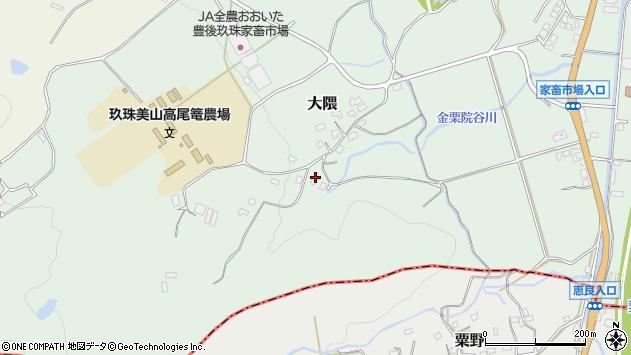 大分県玖珠郡玖珠町大隈1613周辺の地図