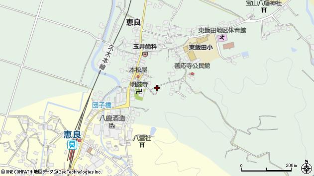 大分県玖珠郡九重町恵良662周辺の地図