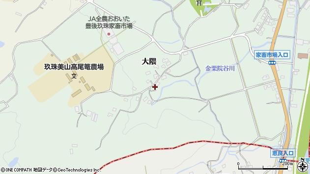 大分県玖珠郡玖珠町大隈1610周辺の地図