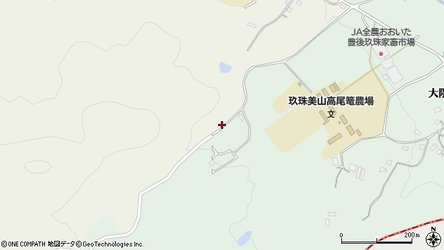 大分県玖珠郡玖珠町大隈1776周辺の地図
