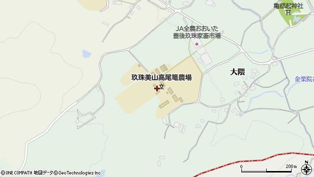大分県玖珠郡玖珠町大隈1700周辺の地図