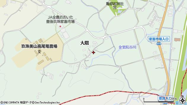 大分県玖珠郡玖珠町大隈1592周辺の地図