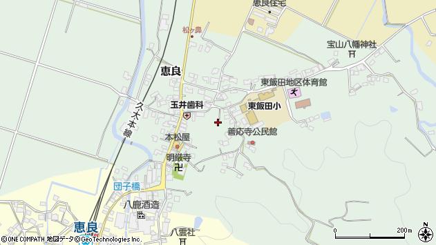 大分県玖珠郡九重町恵良497周辺の地図