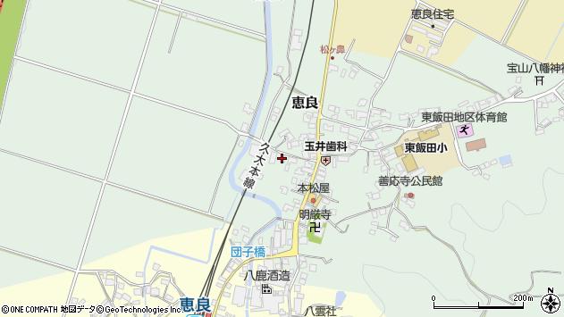 大分県玖珠郡九重町恵良552周辺の地図
