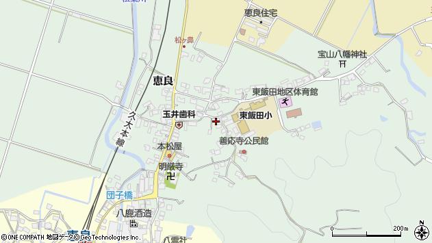 大分県玖珠郡九重町恵良501周辺の地図