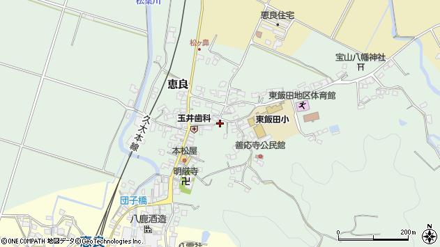 大分県玖珠郡九重町恵良494周辺の地図