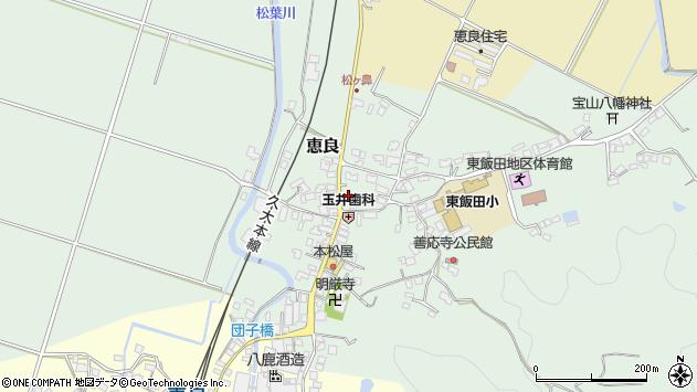 大分県玖珠郡九重町恵良417周辺の地図