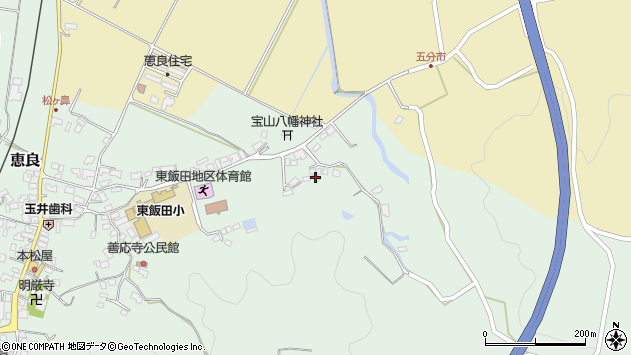 大分県玖珠郡九重町恵良999周辺の地図