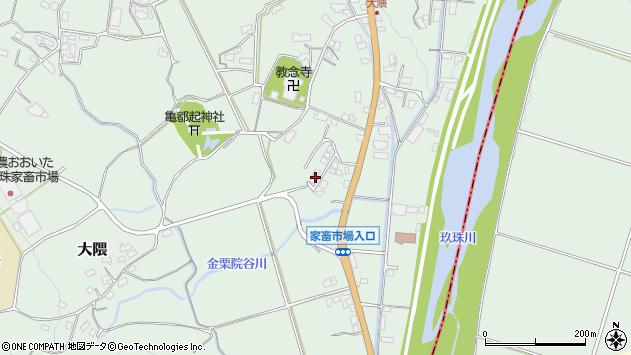 大分県玖珠郡玖珠町大隈1119周辺の地図