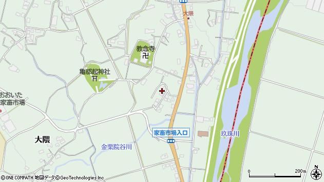 大分県玖珠郡玖珠町大隈1181周辺の地図