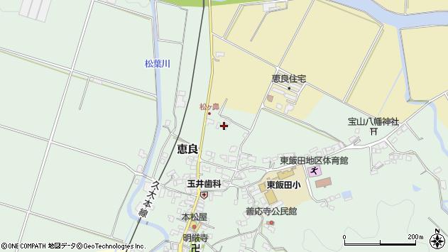 大分県玖珠郡九重町恵良384周辺の地図