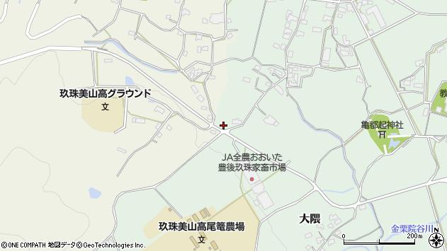 大分県玖珠郡玖珠町山田1743周辺の地図