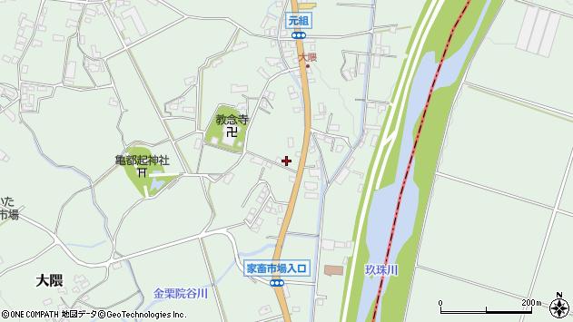 大分県玖珠郡玖珠町大隈1191周辺の地図