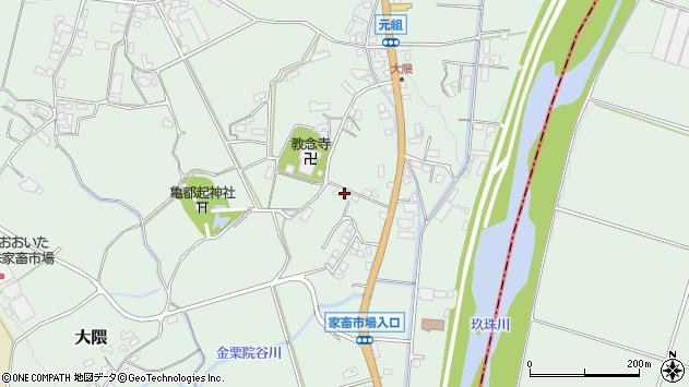 大分県玖珠郡玖珠町大隈1186周辺の地図