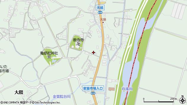 大分県玖珠郡玖珠町大隈1192周辺の地図