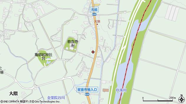 大分県玖珠郡玖珠町大隈1194周辺の地図