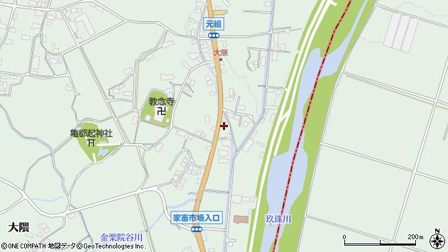 大分県玖珠郡玖珠町大隈1200周辺の地図