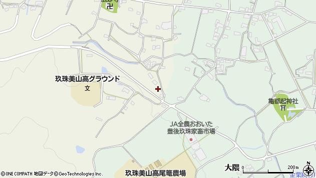 大分県玖珠郡玖珠町山田1211周辺の地図