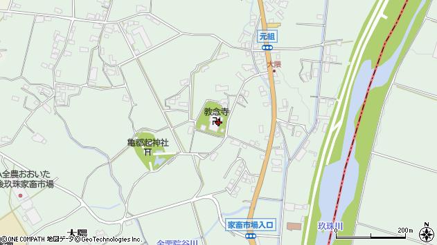 大分県玖珠郡玖珠町大隈1218周辺の地図