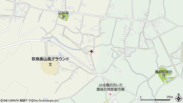 大分県玖珠郡玖珠町山田1190周辺の地図