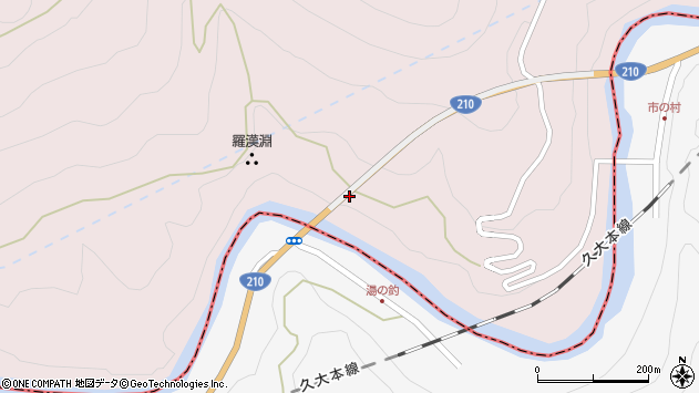 大分県玖珠郡玖珠町戸畑8883周辺の地図