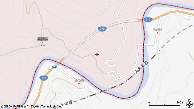 大分県玖珠郡玖珠町戸畑8836周辺の地図