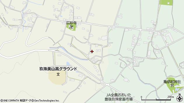 大分県玖珠郡玖珠町山田1179周辺の地図