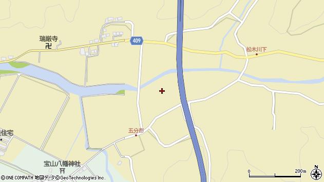 大分県玖珠郡九重町松木5205周辺の地図