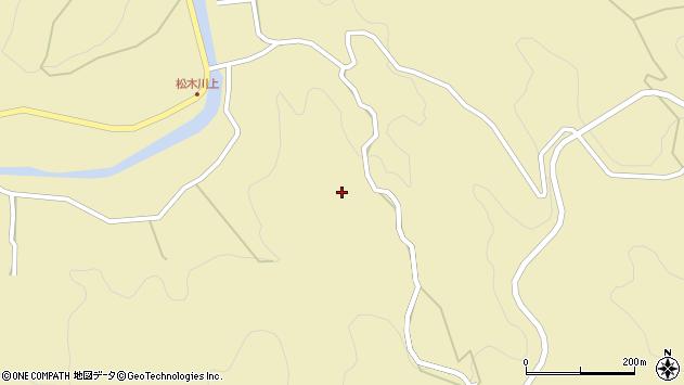 大分県玖珠郡九重町松木川上周辺の地図