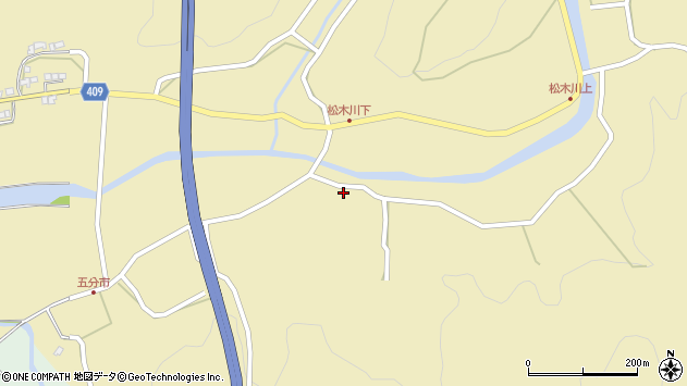大分県玖珠郡九重町松木5168周辺の地図