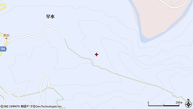 大分県玖珠郡玖珠町山浦早水周辺の地図