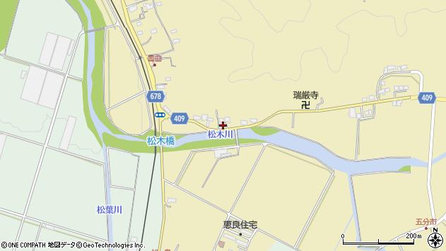 大分県玖珠郡九重町松木608周辺の地図
