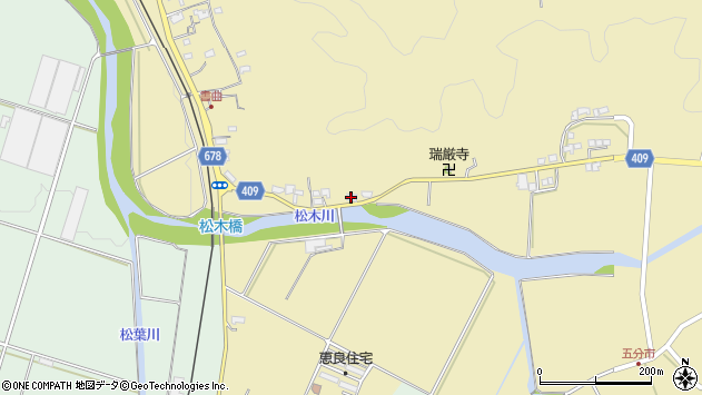 大分県玖珠郡九重町松木612周辺の地図