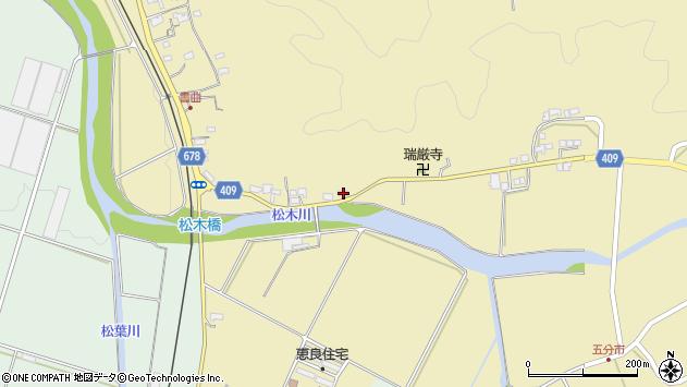 大分県玖珠郡九重町松木600周辺の地図