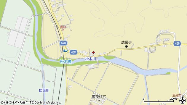 大分県玖珠郡九重町松木609周辺の地図