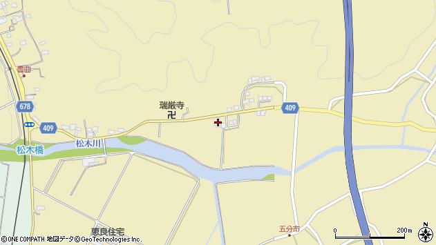 大分県玖珠郡九重町松木656周辺の地図