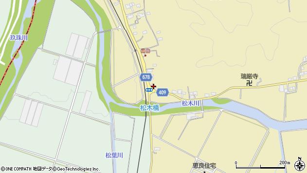 大分県玖珠郡九重町松木587周辺の地図