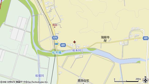 大分県玖珠郡九重町松木601周辺の地図