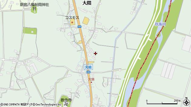 大分県玖珠郡玖珠町大隈973周辺の地図