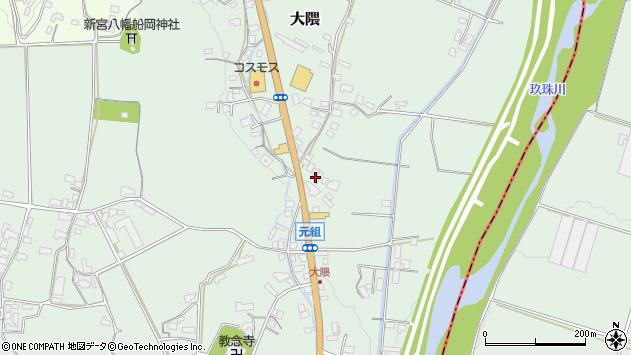 大分県玖珠郡玖珠町大隈972周辺の地図