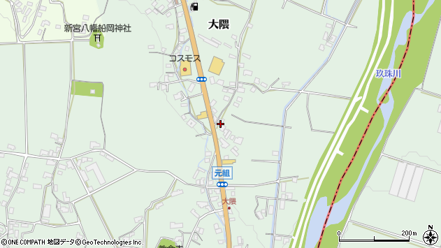 大分県玖珠郡玖珠町大隈970周辺の地図
