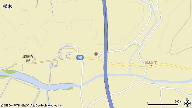 大分県玖珠郡九重町松木802周辺の地図