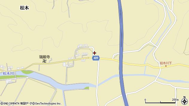 大分県玖珠郡九重町松木734周辺の地図