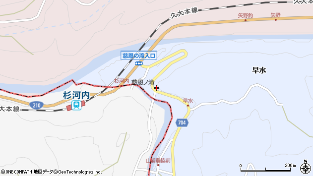 大分県玖珠郡玖珠町山浦635周辺の地図