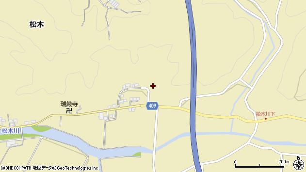 大分県玖珠郡九重町松木762周辺の地図