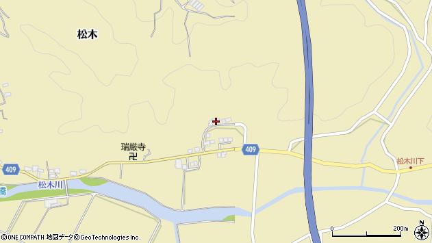 大分県玖珠郡九重町松木687周辺の地図