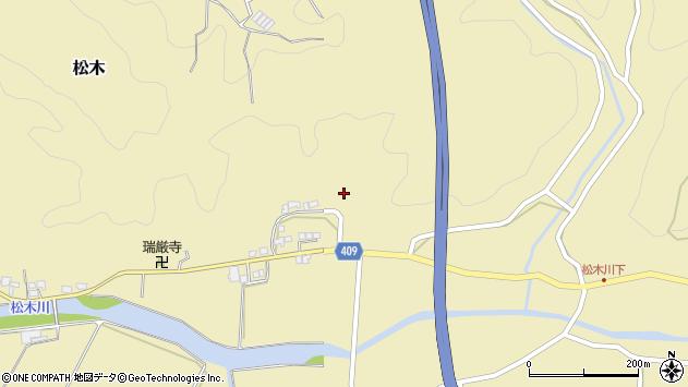 大分県玖珠郡九重町松木724周辺の地図