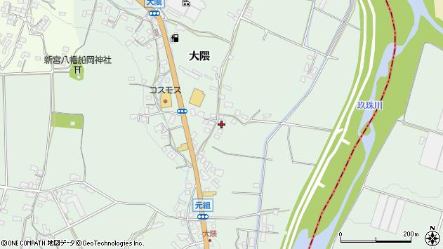 大分県玖珠郡玖珠町大隈964周辺の地図